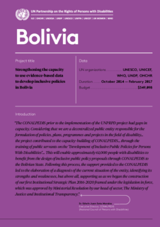 Bolivia  results Achieved Phase 1