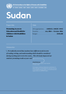 Sudan Results Achieved Phase 1